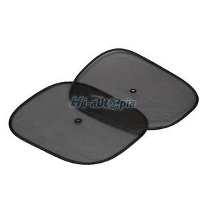 2-x-Car-Side-Rear-Window-Sunshade-Sun-Shade-Cover-Visor-Shield-Screen-Black-Mesh