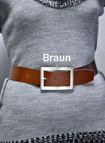 100/% Leather Belt 4cm wide Length and Choose Colour