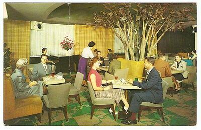 1959 MANGER HAMILTON HOTEL Cocktail Lounge Washinton D.C. Photo Adv. Postcard