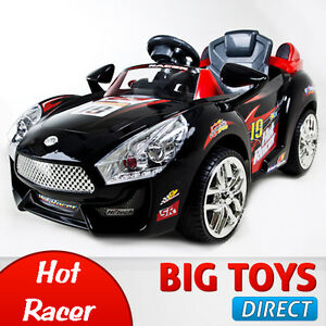 Black-Hot-Racer-Kids-Electric-Power-Ride-On-Car-MP3-amp-RC-Remote-Sport-Wheels
