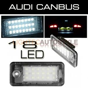 AUDI-A3-A4-A6-Q7-XENON-WHITE-LED-LICENSE-NUMBER-PLATE-LAMP-MODULES-CANBUS-SAFE