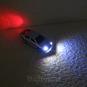 10-Model-Lighted-Cars-OO-gauge-1-76-with-12V-LEDs-lights-motion-your-layouts