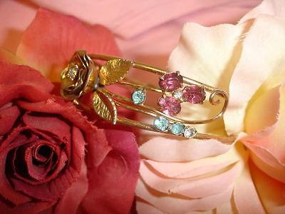 Vintage Coro Craft Pegasus Gold GF Bangle  Bracelet WOW