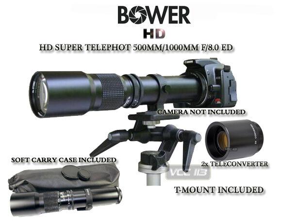 500mm/1000mm Telephoto Lens for Canon Digital Rebel T3I T2i T1i 600D 550D 500D