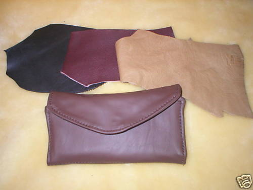 New Genuine Rugged Leather Womens Clutch Checkbook Wallet Purse Handmade in USA