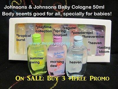 CLEARANCE 50ml Johnson's Baby Cologne Fragrance Perfume Body Mist Women/Men kids