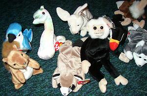 9-Beanie-Babies-Original-with-tags-unused-smoke-free