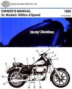Harley Davidson Sportster Xlh  Owners Manual
