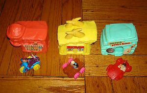 x3-Lot-THE-FLINTSTONES-MCDONALDS-Happy-Meal-Toys-Houses-Fred-Dino-Bowling-Alley