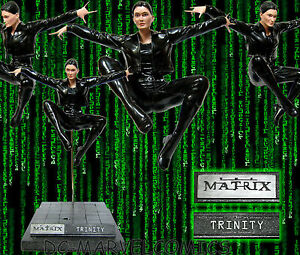 THE-MATRIX-TRINITY-FLYING-KICK-13-1-4-Cold-Cast-STATUE-NEO-maquette-Figurine