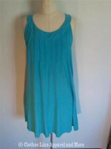 New-Fresh-Produce-Me-Scoop-Neck-Sundress-Large-Summer-Wedding-Cruise-Aqua-Blue