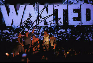 The-Wanted-FULLY-SIGNED-Autograph-British-Boyband-12x8-Photo-AFTAL-COA-inc-Max