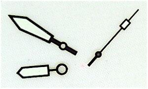 NEW-BLACK-Plongeur-hand-set-fit-SEIKO-diver-6309-06-7002-7S26-SKX007-4R15