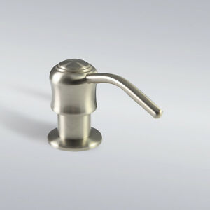 Kitchen-Bathroom-Sink-Faucet-Soap-or-Lotion-Dispenser-Brushed-Nickel-New
