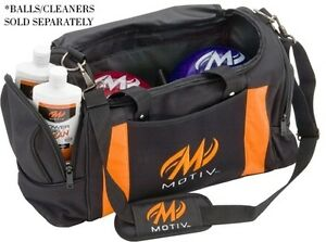 Image Is Loading Motiv Deluxe Black Orange 2 Ball Bowling Bag