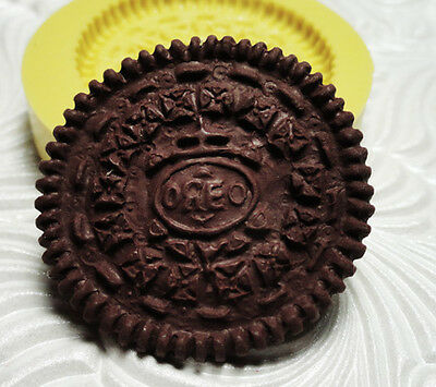 Silicone Resin Polymer Clay Fimo Fondant Flexible Push Mold OREO COOKIE 6100