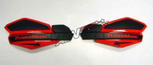 Powermadd Star Handguards Hand Guards Black/Red Snowmobile Snocross Ski-Doo