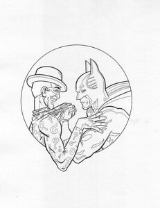Image Is Loading Batman Forever Coloring Book Piece By Mike DeCarlo