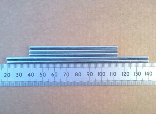 3mm Steel Gearbox Shaft 75 or 120mm Length Axle for Cogs or Pulleys Qty 5