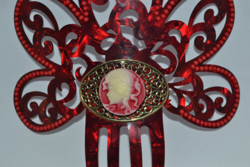 "Spanish flamenco peineta haircomb cameo detail direct from Spain 7/"" 18cm high"