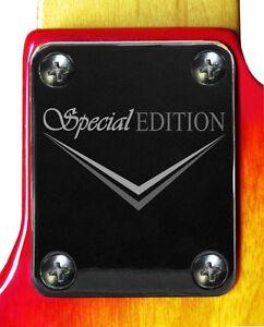 Neck-Plate-Chrome-4-Fender-Strat-Tele-Guitar-Special-Ed