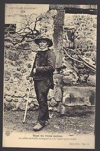 43-cpa-Type-du-vieux-paysan-au-collier-de-barbe-auvergnat
