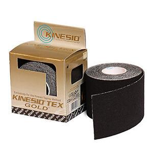 Original-Kinesio-Tex-Gold-Tape-Authentic-Kinesiology-Tape-Black