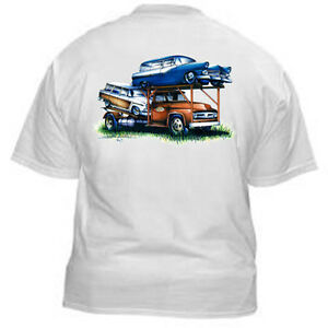 Kurbside-Kustoms-Vintage-Car-Hauler-Classic-Transporter-Hot-Rod-T-Shirt-SS-388