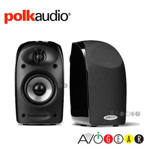 Polk-Audio-TL1-TL-1-Satellite-Speakers-1-Pair-x2-Black-Authorized-Dealer