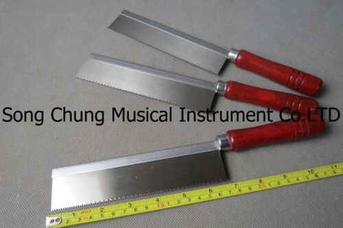 """3 Pcs ultrathin hand saw with wooden handle,1.57"""" x 0.012"""" thick and 6.5"""" long"""