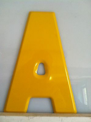 """7 1/2"""" Stamped Aluminum Letters (Glossy) Yellow"""