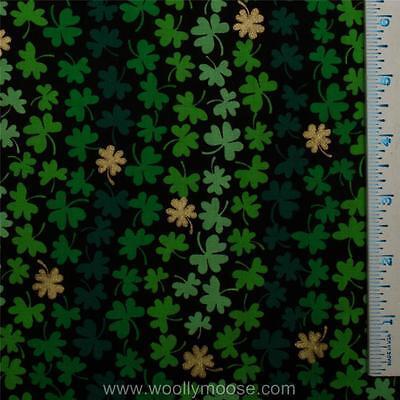 HALF YARD Fabric Traditions SHAMROCK METALLIC St. Patrick's Day Fabric 1/2  YARD