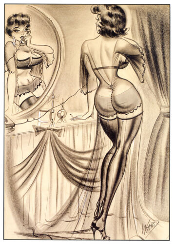 Classic Vintage Glossy/Satin Art of Ward Pin-up Poster re-print A4, A3, A3+