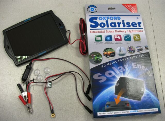 OXFORD OF949 SOLARISER SOLAR BATTERY CHARGER MOTORCYCLE CAR