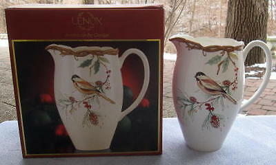 Lenox Winter Song Carved Large Pitcher 1st Quality New in Box