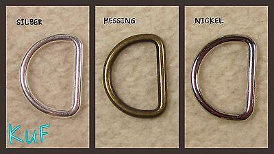 10 x D-Ringe Halbringe 16 mm nahtlos