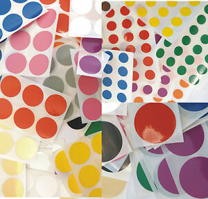 Mixed-Plastic-Vinyl-Colour-Code-Stickers-Coloured-Sticky-Labels-13-Colours