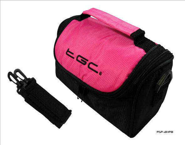 New Nintendo 3DS XL Hot Pink & Black Console Travel Bag Case with Shoulder Strap