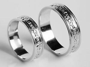 10K Gold Irish Handcrafted Irish Claddagh Celtic Wedding Ring Set All sizes