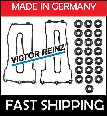 BMW VICTOR REINZ OEM GERMANY 2 VALVE COVER GASKET SET W/22 BOLT SEALS E36
