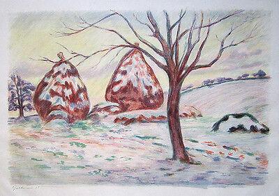 ARMAND GUILLAUMIN Signed 1898 Original Impressionist Color Lithograph