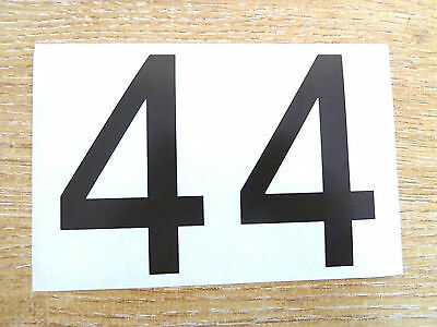 71mm Black Sticky Vinyl Numbers Self-Adhesive Stickers Plastic Stick on Labels