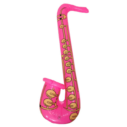 One Inflatable Saxophone 4 colours available 80s Party Decoration