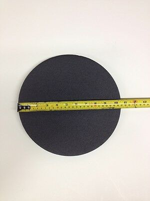 Foam Pad Round Black 10 1/2 inch by 1/2 inch thick-Bucket Lid Pad Kneeling Pad
