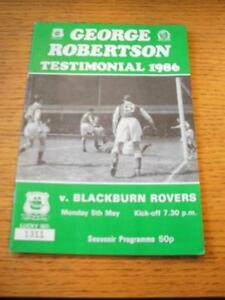 05051986 Plymouth Argyle v Blackburn Rovers Geore Robertson Testimonial  No - <span itemprop=availableAtOrFrom>Birmingham, United Kingdom</span> - Returns accepted within 30 days after the item is delivered, if goods not as described. Buyer assumes responibilty for return proof of postage and costs. Most purchases from business s - Birmingham, United Kingdom