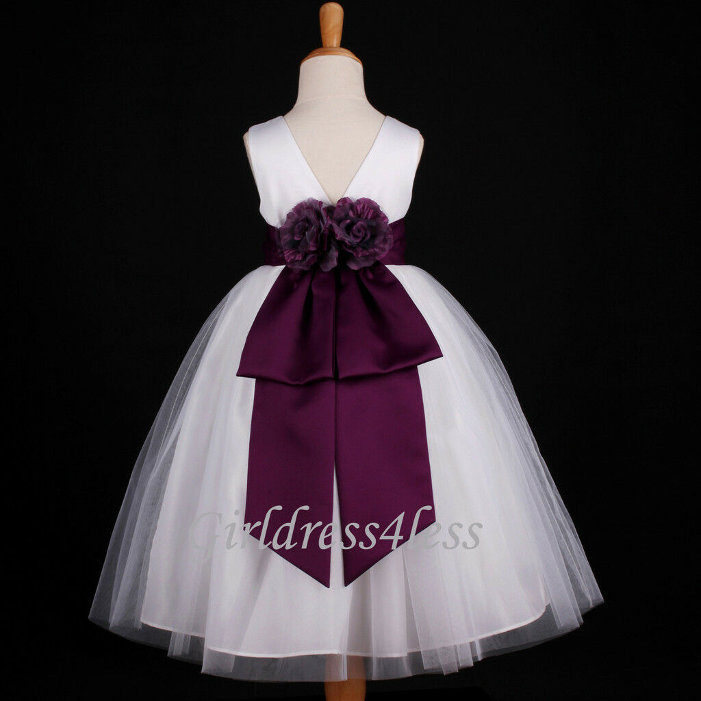 Whiteplum dark purple wedding bridal flower girl dress 18m 22t 34 whiteplum dark purple wedding bridal flower girl dress 18m 22t 3 mightylinksfo