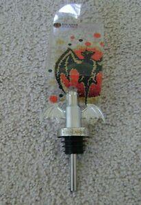 BACARDI-Together-RUM-BAT-Bottle-Metallic-Stopper-Pourer-NEW