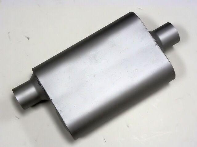 2 CHAMBER CENTER OFFSET 2.5 INCH EXHAUST OVAL PERFORMANCE MUFFLER SILENCER 42541