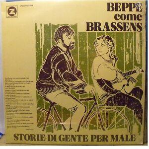 BEPPE COME BRASSENS - STORIE DI GENTE PER MALE LP SIGILLATO - BEPPE CHIERICI - - Italia - BEPPE COME BRASSENS - STORIE DI GENTE PER MALE LP SIGILLATO - BEPPE CHIERICI - - Italia