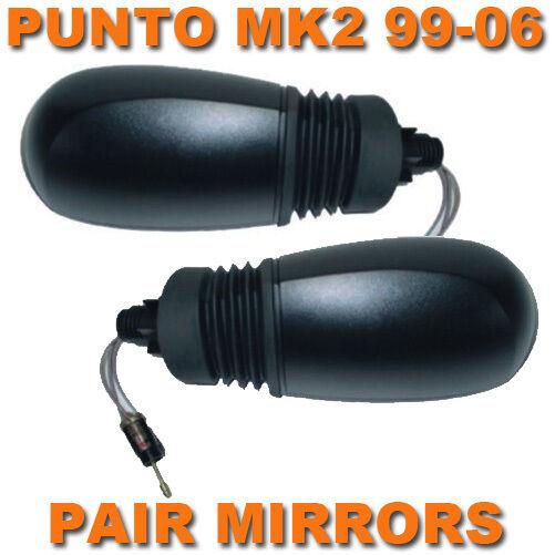 FIAT PUNTO MK2 99-06 BLACK MANUAL DOOR/WING MIRRORS PAIR LEFT & RIGHT